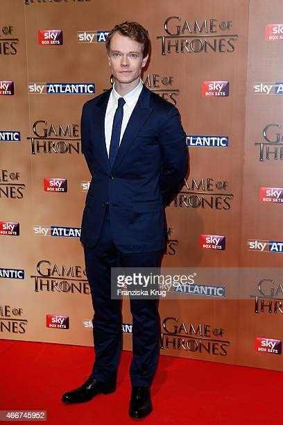 Alfie Allen arrives at the Tower of London for the world premiere of Game of Thrones S5 which starts on April 12 on Sky in Germany and Austria on...