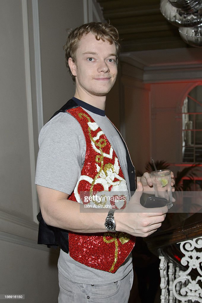 Alfie Allen attends the Cuckoo Club and Show Pony pop up club at Grosvenor Place on November 24, 2012 in London, England.