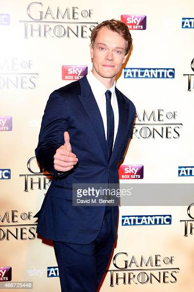 Alfie Allen attends the World Premiere of 'Game Of Thrones Season 5' at the Tower of London on March 18 2015 in London England