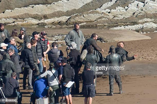 Alfie Allen is seen at Game of Thrones Set Filming on October 29 2016 in Zumaia Spain