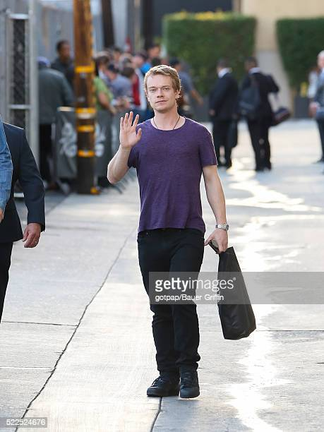 Alfie Allen is seen at 'Jimmy Kimmel Live' on April 19 2016 in Los Angeles California