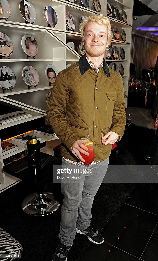 Alfie Allen parties in Wyld at W London Leicester Square after the NME Awards whilst drinking 'CIROC 'n' Roll' cocktails on February 27 2013 in...
