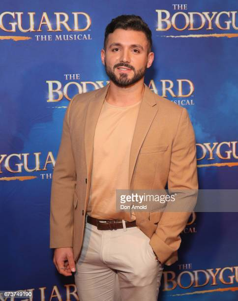 Alfie Arcuri arrives ahead of opening night of The Bodyguard The Musical at Lyric Theatre Star City on April 27 2017 in Sydney Australia