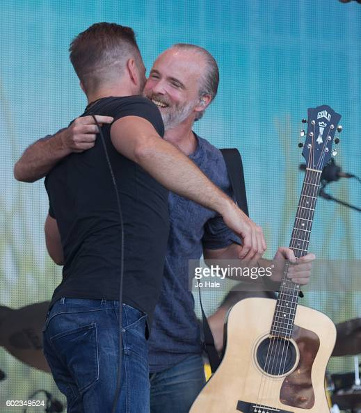 Alfie Boe guests on stage with Fran Healy and Travis at BBC R2 Live at Hyde Park on September 11 2016 in London England