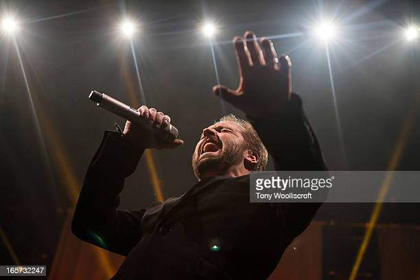 Alfie Boe performs at Sheffield Arena on April 5 2013 in Sheffield England