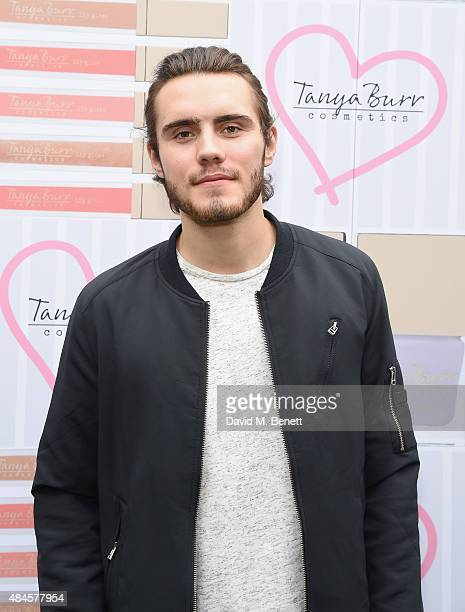 Alfie Deyes attends the Tanya Burr Cosmetics New Beauty Collection Launch Party at Kensington Roof Gardens on August 20 2015 in London England