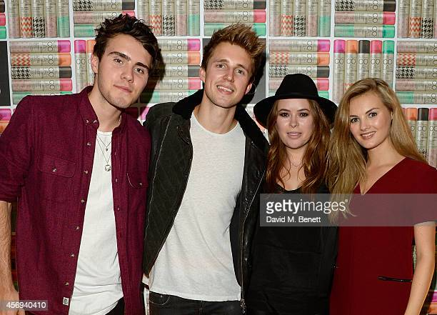 Alfie Deyes Marcus Butler Tanya Burr and Niomi Smart attend as Ruth Crilly unveils a new haircare sensation 'Colab' on October 9 2014 in London...