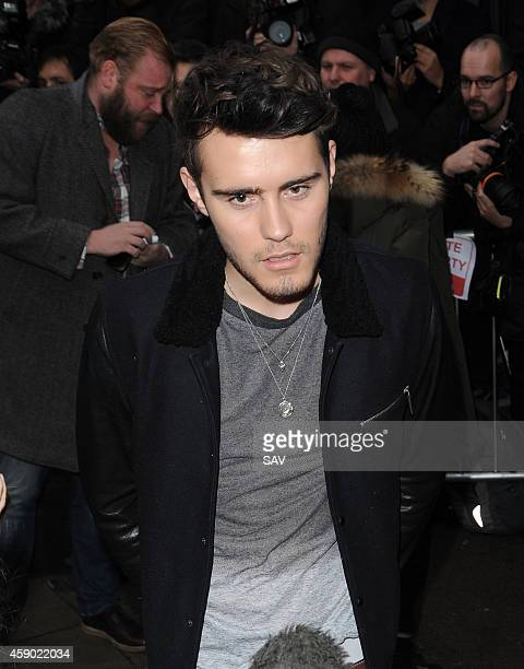 Alfie Deyes sighting at the Band Aid recording on November 15 2014 in London England