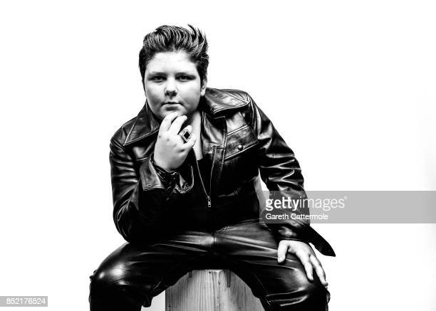 Alfie Pearson from Hull poses during a portrait session at 'The Elvies' on September 22 2017 in Porthcawl Wales 'The Elvies' is an annual gathering...