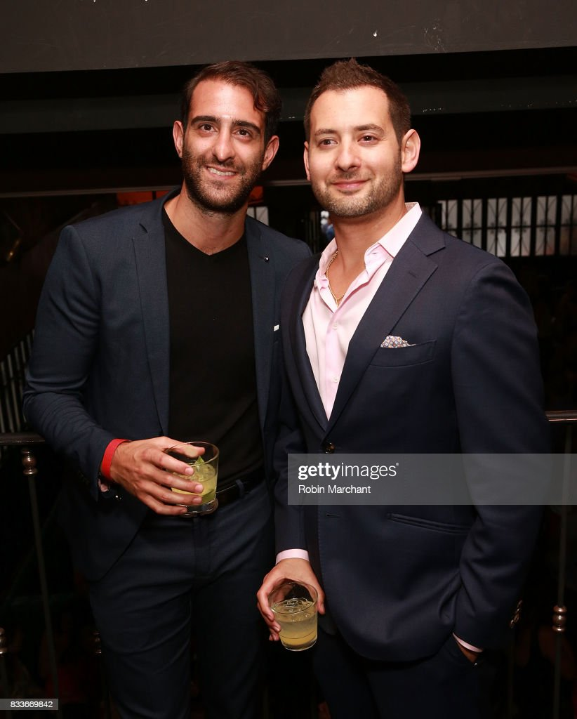 Alfons Ashear and Justin Cooper attend WE tv's LOVE BLOWS Premiere Event at Flamingo Rum Club on August 16, 2017 in Chicago, Illinois.