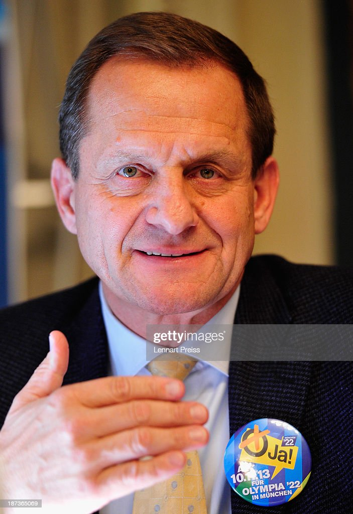 Alfons Hoermann, president of the German Ski Federation (DSV) adresses the media during a press conference regarding the the city of Munich's application for the Winter Olympic Games 2022 on November 8, 2013 in Munich, Germany.