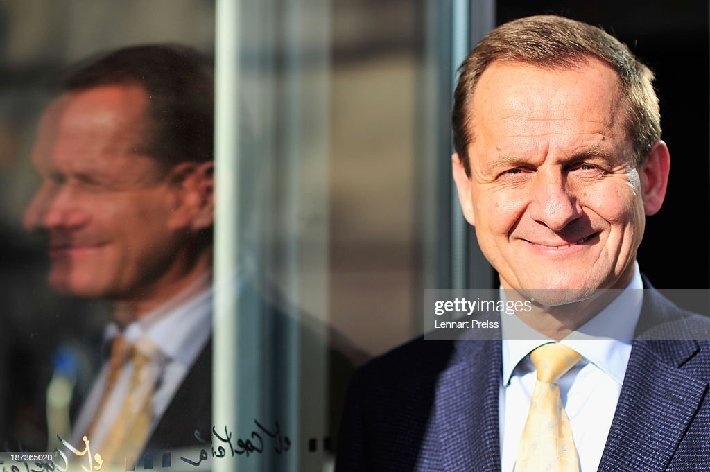 Alfons Hoermann, president of the German Ski Federation DSV and designated head of the German Olympic Committee DOSB, poses after a press conference regarding the the city of Munich's application for the Winter Olympic Games 2022 on November 8, 2013 in Munich, Germany.