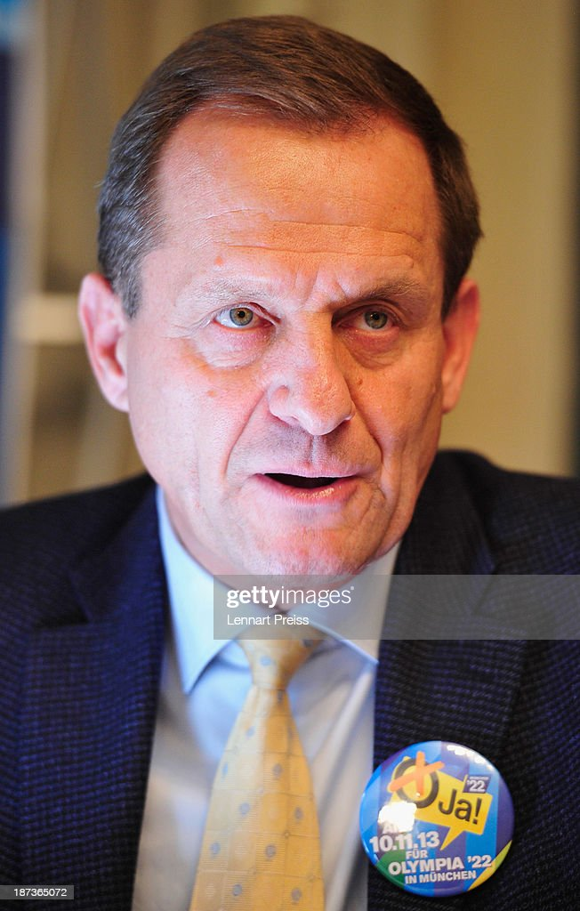 Alfons Hoermann, president of the German Ski Federation (DSV) speaks during a press conference regarding the the city of Munich's application for the Winter Olympic Games 2022 on November 8, 2013 in Munich, Germany.