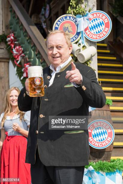 Alfons Schuhbeck attends the Oktoberfest beer festival at Kaefer Wiesnschaenke tent at Theresienwiese on September 23 2017 in Munich Germany