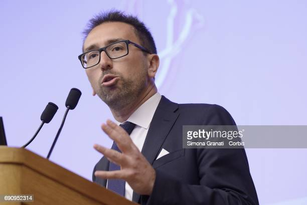 Alfonso Bonafede Luigi Di Maio partecipates at the Conference of the Five Star Movement on Justice Issues and Visions of Justice Reform Prospects on...