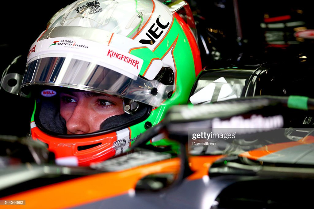 Alfonso Celis Jr of Mexico and Force India sits in his car in the garage during practice for the Formula One Grand Prix of Austria at Red Bull Ring on July 1, 2016 in Spielberg, Austria.