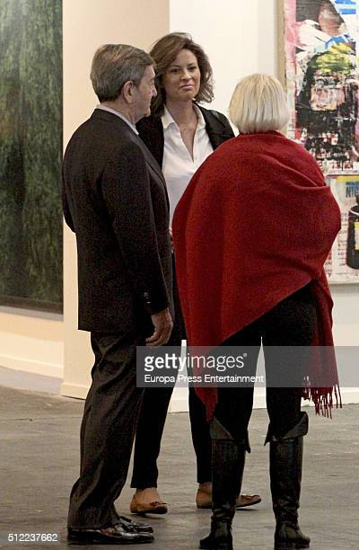 Alfonso Cortina and Elena Cue attend the International Contemporary Art Fair ARCO 2016 at Ifema on February 24 2016 in Madrid Spain