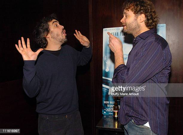 Alfonso Cuaron and Niels Mueller during 'The Assassination of Richard Nixon' Special New York City Screening at Bryant Park Hotel in New York City...