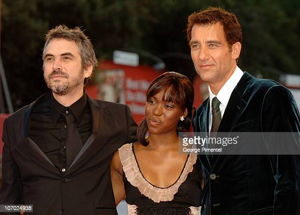 Alfonso Cuaron director ClaireHope Ashitey and Clive Owen
