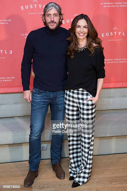 Alfonso de Borbon and Eugenia Silva pose during a photocall to present 'Eustyle' at Marieta restaurant on December 2 2014 in Madrid Spain