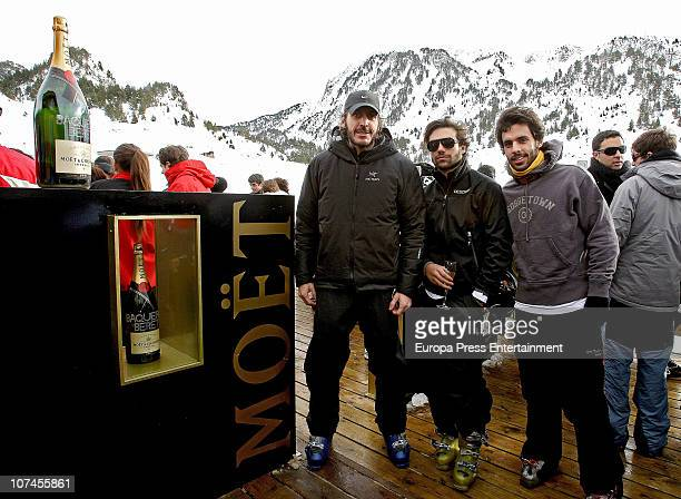 Alfonso de Borbon y Yordi Diego Osorio and Alonso Aznar are seen on holidays in Baqueira Beret on December 9 2010 in Baqueira Beret Spain