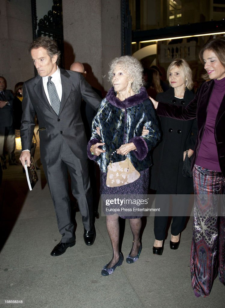 <a gi-track='captionPersonalityLinkClicked' href=/galleries/search?phrase=Alfonso+Diez&family=editorial&specificpeople=6697714 ng-click='$event.stopPropagation()'>Alfonso Diez</a>, Duchess of Alba <a gi-track='captionPersonalityLinkClicked' href=/galleries/search?phrase=Cayetana+Fitz-James+Stuart&family=editorial&specificpeople=6090682 ng-click='$event.stopPropagation()'>Cayetana Fitz-James Stuart</a>, <a gi-track='captionPersonalityLinkClicked' href=/galleries/search?phrase=Eugenia+Martinez+de+Irujo&family=editorial&specificpeople=1995376 ng-click='$event.stopPropagation()'>Eugenia Martinez de Irujo</a> and <a gi-track='captionPersonalityLinkClicked' href=/galleries/search?phrase=Ana+Botella&family=editorial&specificpeople=235432 ng-click='$event.stopPropagation()'>Ana Botella</a> attend 'El Legado Casa de Alba' art exhibition at Palacio Cibeles on December 18, 2012 in Madrid, Spain.