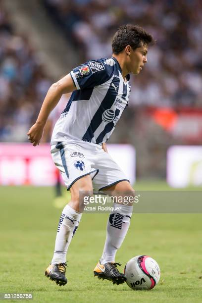 Alfonso Gonzalez of Monterrey drives the ball during the 4th round match between Monterrey and Chivas as part of the Torneo Apertura 2017 Liga MX at...