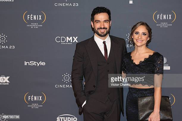 Alfonso Herrera and Diana Vazquez attend Premio Iberoamericano de Cine Fenix 2015 at Teatro de La Ciudad on November 25 2015 in Mexico City Mexico