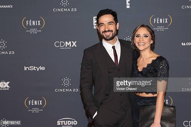 Alfonso Herrera and Diana Vazquez attend Premio Iberoamericano de Cine Fenix 2015 at Teatro de La Ciudad on November 25 2015 in Mexico City Mexico