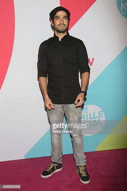 Alfonso Herrera attends the MTV Millennial Awards 2014 red carpet at Pepsi Center WTC on August 12 2014 in Mexico City Mexico