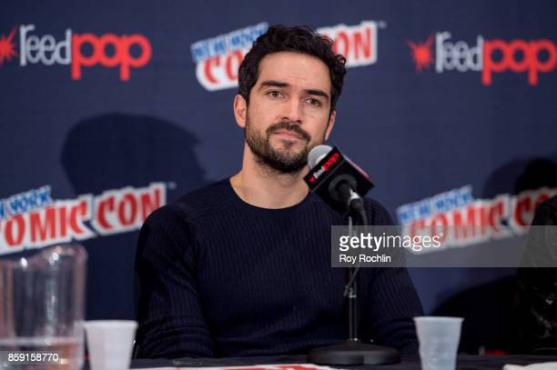 Alfonso Herrera attends the 'The Exorcist' panel during the 2017 New York Comic Con Day 4 on October 8 2017 in New York City