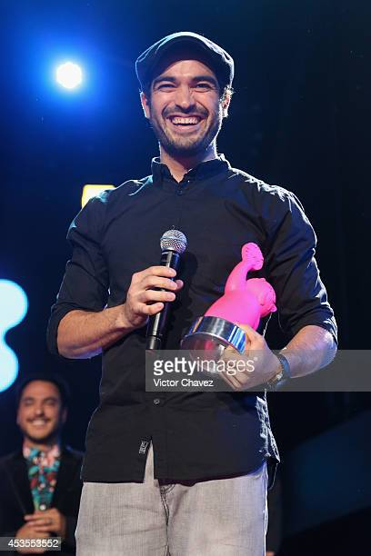 Alfonso Herrera speaks on stage during the MTV Millennial Awards 2014 at Pepsi Center WTC on August 12 2014 in Mexico City Mexico