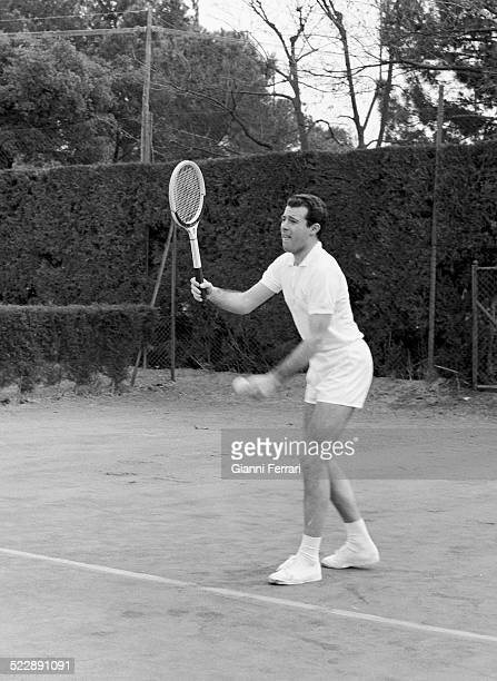 Alfonso of Borbon playing tennis Madrid Spain