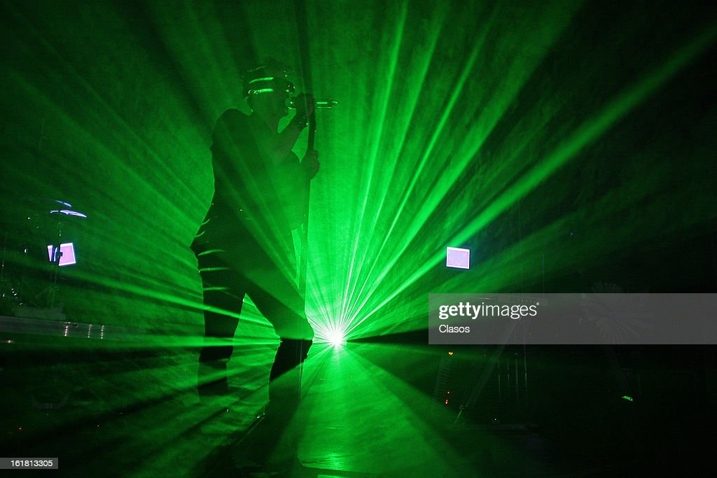 Alfonso Pichardo leader of the Mexican group Moenia performs live during his presentation on February 16, 2013 in Mexico City, Mexico.