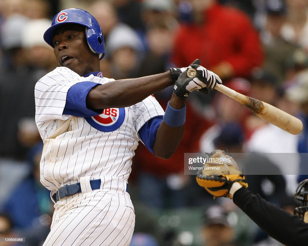 Alfonso Soriano batting during game action at the season home opener of the Chicago Cubs at Wrigley Field, Chicago, Il on April 9, 2007. The Houston Astros defeated the Chicago Cubs by a score of 5 to 3.