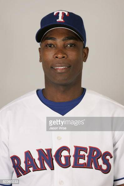 Alfonso Soriano of the Texas Rangers poses for a portrait during photo day at Surprise Stadium on February 23 2005 in Surprise Arizona