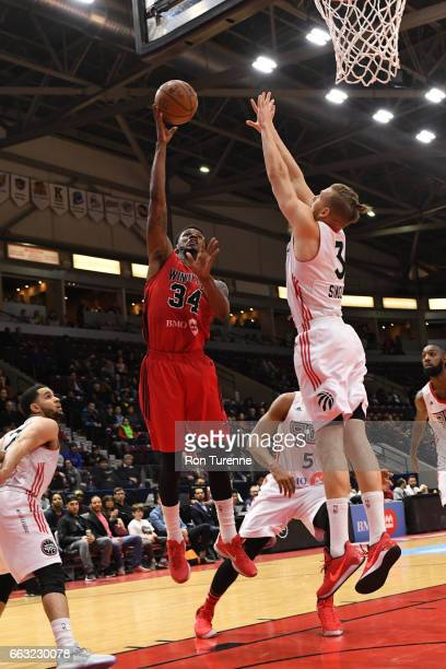 Alfonzo McKinnie of the Windy City Bulls shoots the ball against the Raptors 905 on March 30 2017 in Mississauga Ontario Canada NOTE TO USER User...