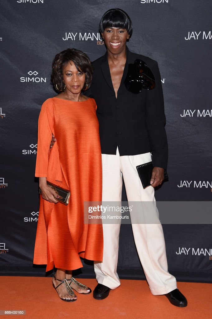 Alfre Woodard and J. Alexander attend the Jay Manuel Beauty x Simon Launch Event at Highline Stages on October 25, 2017 in New York City.