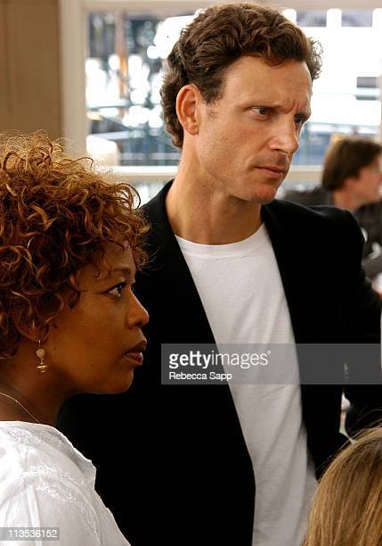Alfre Woodard and Tony Goldwyn during The Creative Coalition's Private Luncheon and Briefing with Congressman Edward Markey and Senator Joe Biden at...