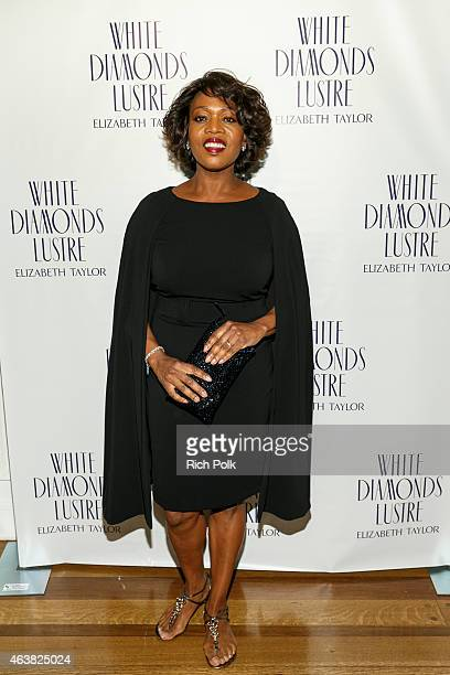 Alfre Woodard arrives at Alfre Woodard's Oscar's Sistahs Soiree by White Diamond Lustre Elizabeth Taylor at the Beverly Wilshire Hotel on February 18...