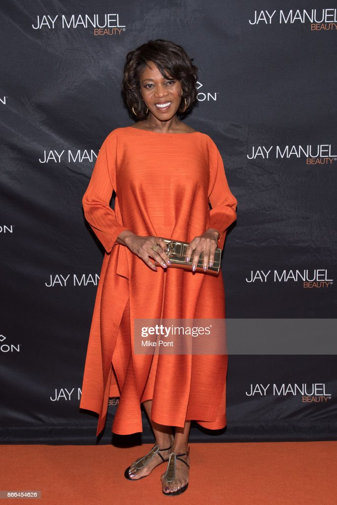 Alfre Woodard attends the Jay Manuel Beauty x Simon launch event at Highline Stages on October 25, 2017 in New York City.
