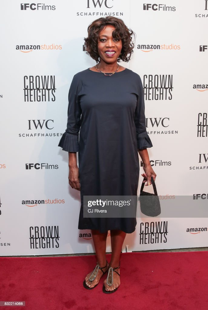 Alfre Woodard attends the New York premiere of 'Crown Heights' at The Metrograph on August 15, 2017 in New York City.