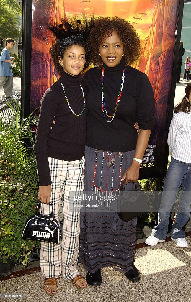 <a gi-track='captionPersonalityLinkClicked' href=/galleries/search?phrase=Alfre+Woodard&family=editorial&specificpeople=220969 ng-click='$event.stopPropagation()'>Alfre Woodard</a> & daughter <a gi-track='captionPersonalityLinkClicked' href=/galleries/search?phrase=Mavis+Spencer&family=editorial&specificpeople=2920488 ng-click='$event.stopPropagation()'>Mavis Spencer</a> during 'The Wild Thornberrys Movie' Premiere at Cinerama Dome in Hollywood, California, United States.