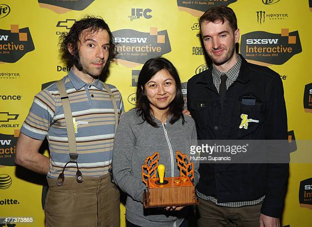 Alfred Darlington Kristy Norindr and Mark Essen attend the SXSW Gaming Awards during the 2014 SXSW Music Film Interactive Festival at Long Center on...