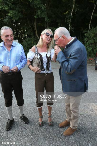 Alfred Draxler and his wife Martina Krogmann Franz Beckenbauer during a bavarian evening ahead of the Kaiser Cup 2017 at the Quellness Golf Resort on...