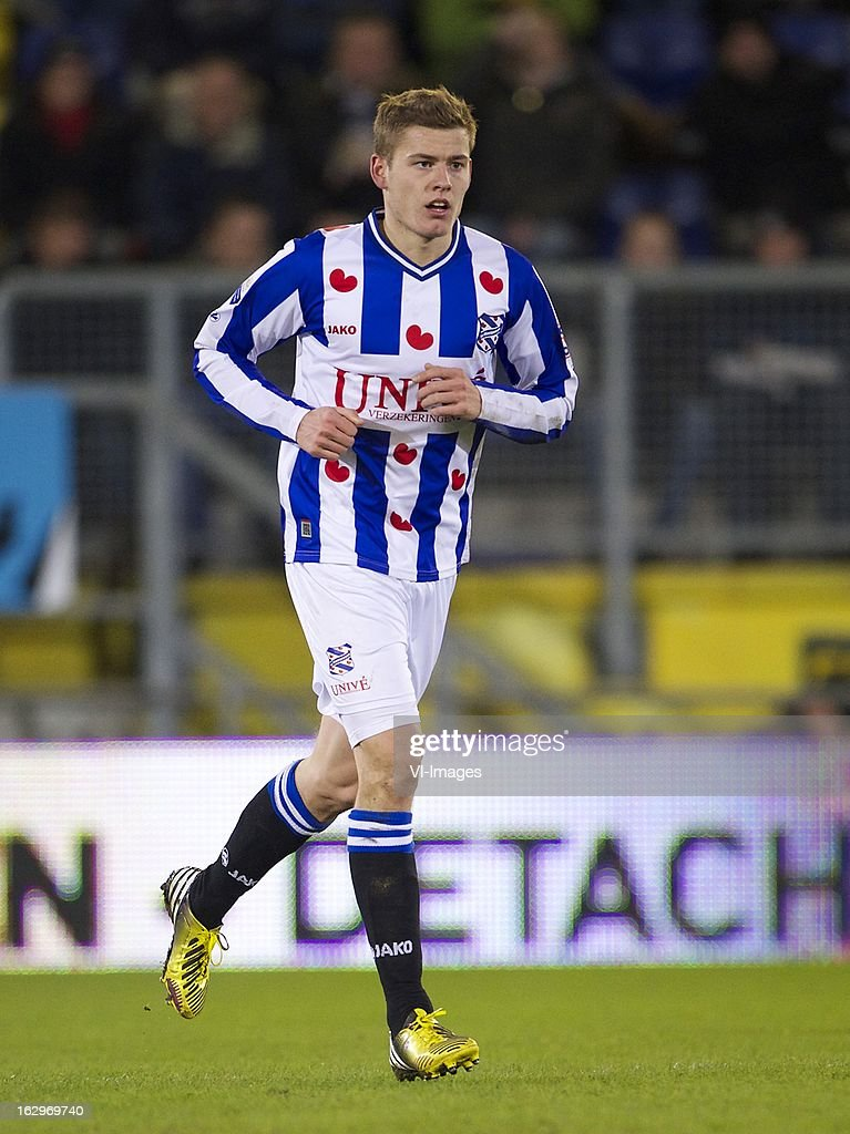 Alfred Finnbogason of Heerenveen during the Dutch Eredivisie match between NAC Breda and SC Heerenveen at the Rat Verlegh STadium on march 02, 2013 in Breda, The Netherlands