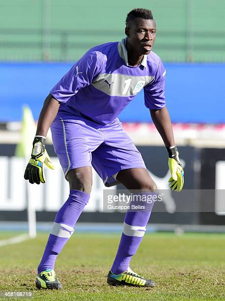 Alfred Gomis of B Italia in action during the match betwen Italy U21 v B Italia at Stadio Partenio on December 17 2013 in Avellino Italy