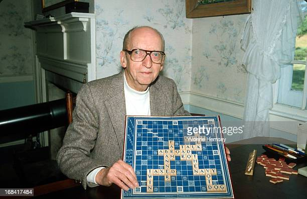 Alfred M Butts inventor of the board game 'Scrabble' is photographed August 25 1981 in New York City Photo by Yvonne Hemsey/Getty Images