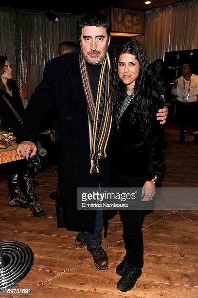 Alfred Molina and Francesca Gregorini attend Day 2 of Village At The Lift 2013 on January 19 2013 in Park City Utah