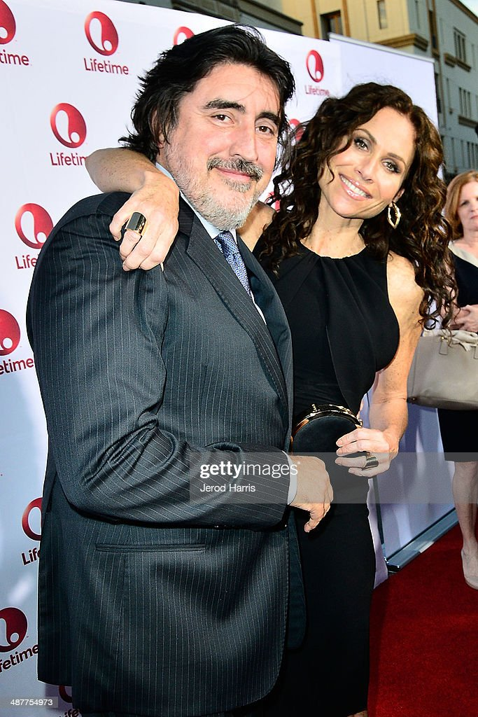 <a gi-track='captionPersonalityLinkClicked' href=/galleries/search?phrase=Alfred+Molina&family=editorial&specificpeople=211218 ng-click='$event.stopPropagation()'>Alfred Molina</a> and <a gi-track='captionPersonalityLinkClicked' href=/galleries/search?phrase=Minnie+Driver&family=editorial&specificpeople=201884 ng-click='$event.stopPropagation()'>Minnie Driver</a> arrive at the Premiere of Lifetime Television's 'Return To Zero' at Paramount Theater on the Paramount Studios lot on May 1, 2014 in Hollywood, California.